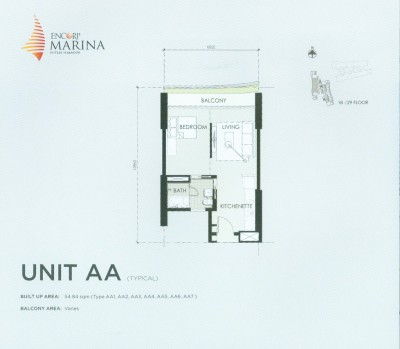 Unit AA Floor Plan