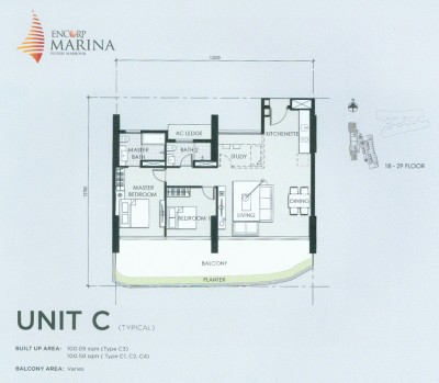 Unit C Floor Plan